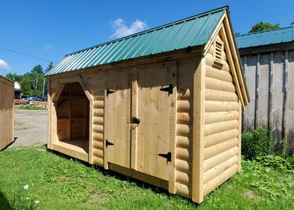 6x16 Weekender - combination firewood rack and storage shed.