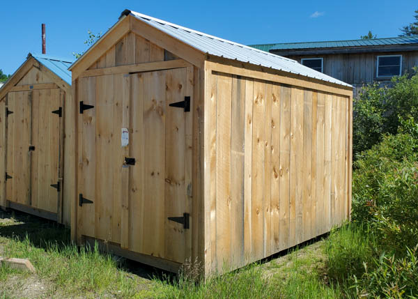 Small storage shed with 72 square feet of storage space
