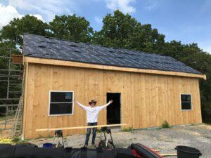 Timber Frame Cabin build