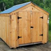 The 8x12 Vermonter is a cheap prefab storage shed.
