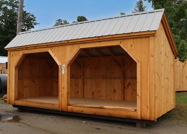 8x20 Woodbin backyard firewood storage shed