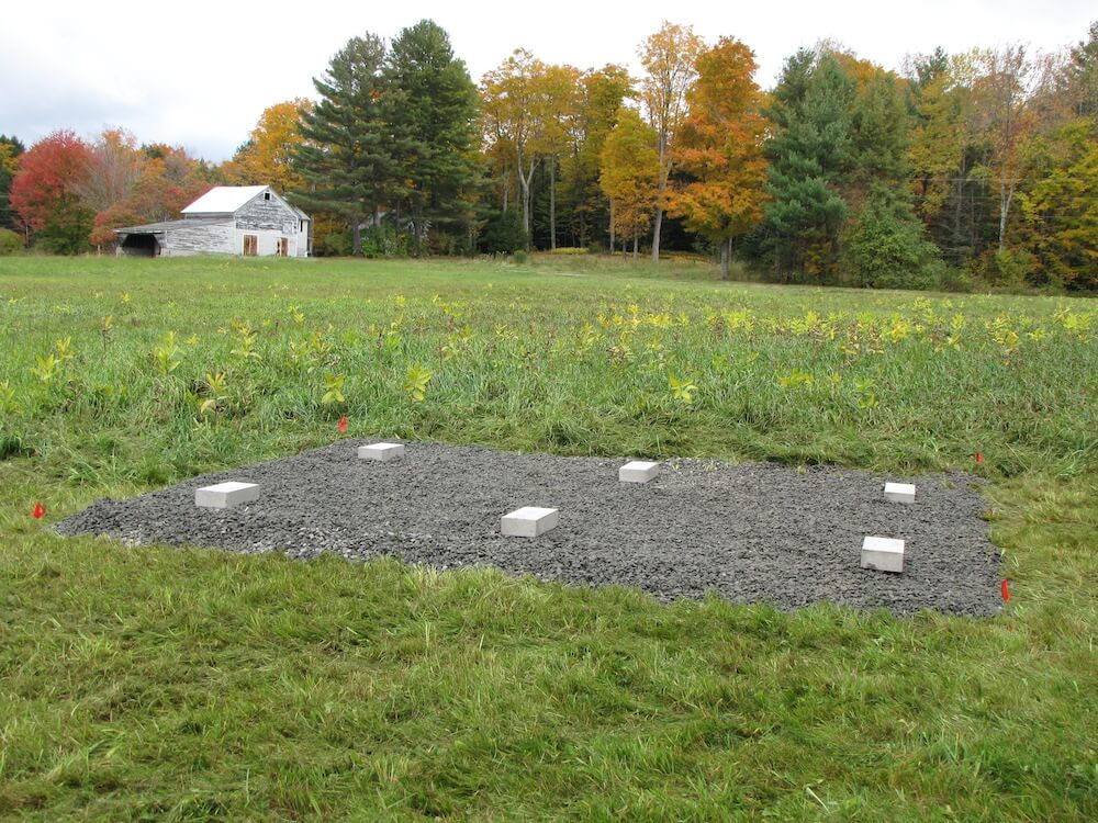 Gravel Pad installed to prepare build site for foundation
