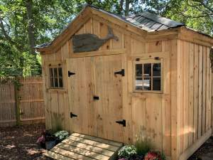 10x14 Tool Shed with Pine Double Doors