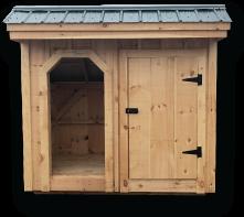4x8 Weekender firewood storage shed