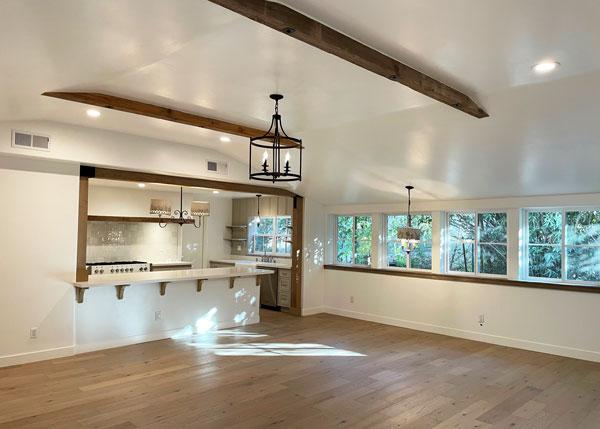 Custom Barn Interior used as a kitchen addition